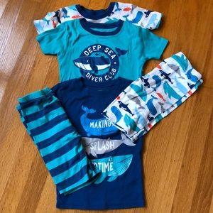 Bundle Boys size 7 Carter's summer jammies